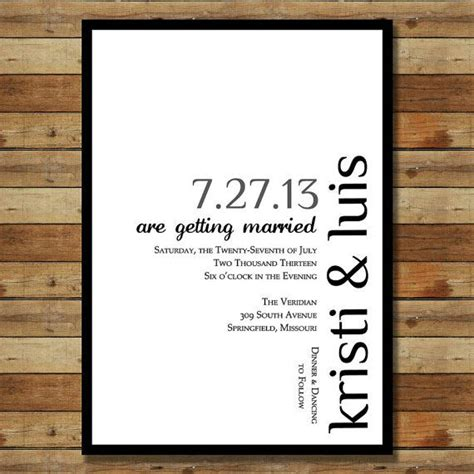 simple modern wedding invitation basic stationary ideas simple fonts and colors