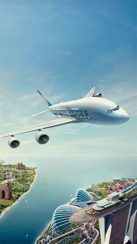 wallpaper singapore airlines flight cgi hd creative