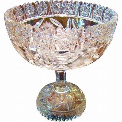 Crystal Lead Cut Hand Punch Bowl Bohemian