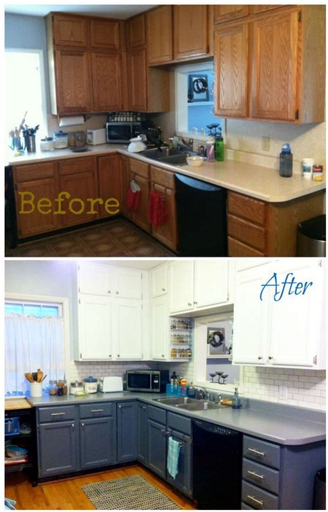 painting formica kitchen cabinets before and after cabinet the best home improvement ideas