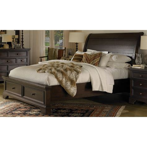 King Storage Bed by Bayfield Mahogany Cal King Storage Bed