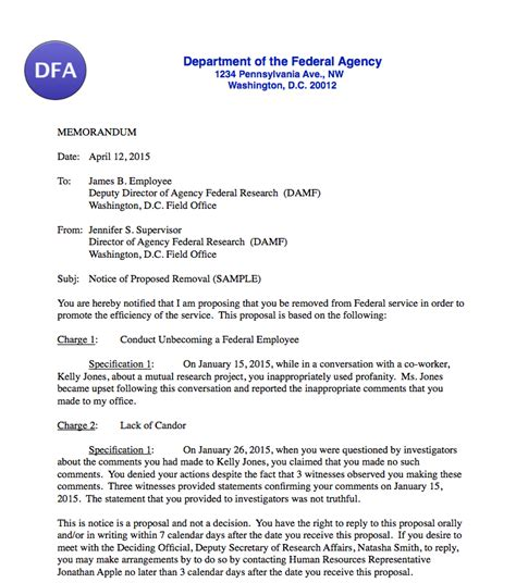 responding  proposed discipline  federal employees