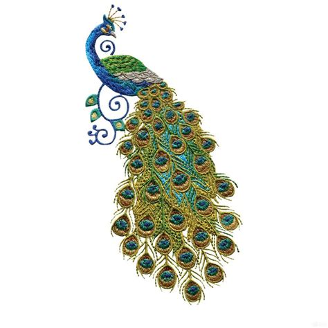 peacock applique free embroidery software jef swnpa128 peacock embroidery