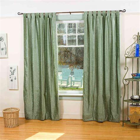 olive green tab top velvet curtain drape panel