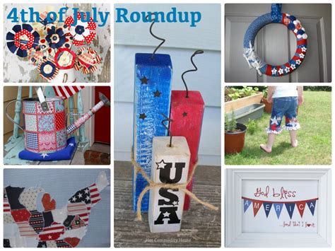 Home Decor For 4th Of July :  4th Of July Craft Roundup