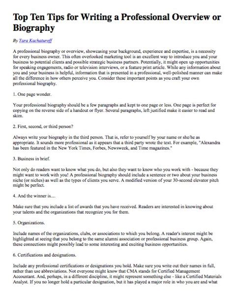 What To Write In Awards And Achievements In Resume by How To Write A Biographical Essay