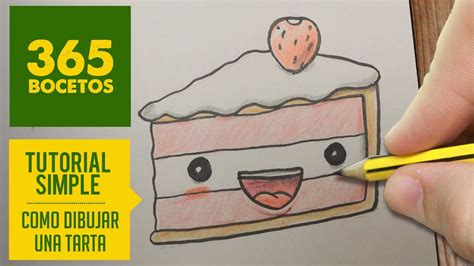 como dibujar una tarta kawaii paso a paso dibujos kawaii faciles how to draw a pie