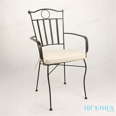 wrought iron outdoor dining chair for export