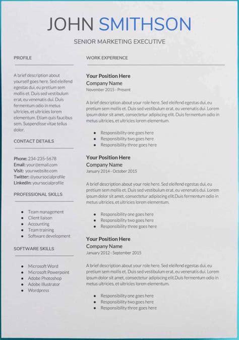 Google Sheets Resume Template - Database - Letter Templates