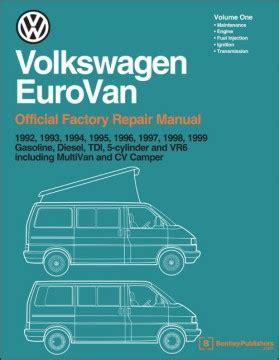 free car repair manuals 1995 volkswagen eurovan free book repair manuals vw eurovan service manual 1992 1999 at evwparts