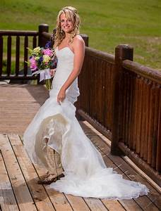 wedding dress with western boots With wedding dresses with cowgirl boots
