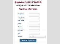 Event Registration Form Code Sample Branch CMS