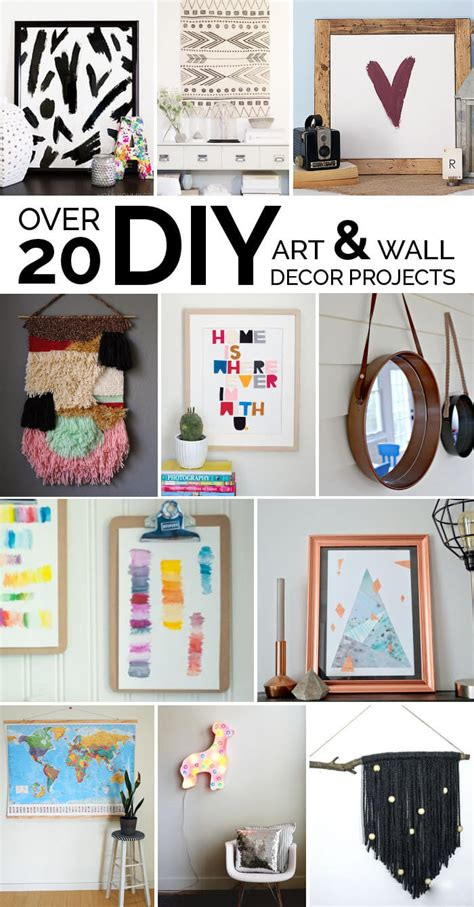 easy diy art ideas and wall decor projects lou
