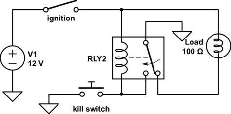 Latching Relay With Kill Switch Electrical Engineering