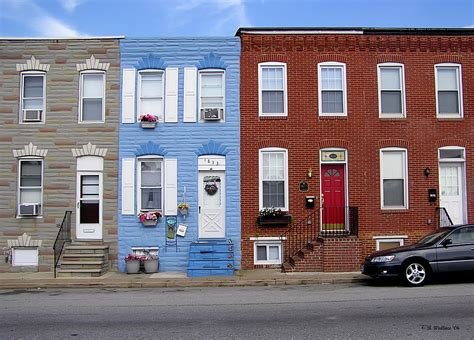 South Baltimore Row Homes Photograph By Brian Wallace