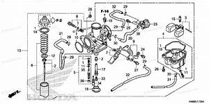 Honda Atv 2013 Oem Parts Diagram For Carburetor