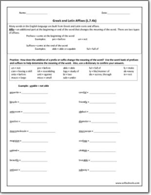 All Worksheets » Greek And Latin Roots Worksheets  Printable Worksheets Guide For Children And
