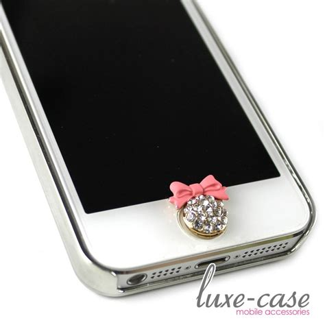 iphone home button sticker iphone home button sticker bling pink bow rhinestone bling