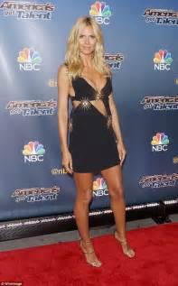 Heidi Klum Shows Cleavage America Got Talent Red