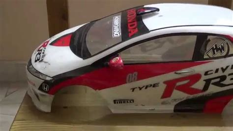 Tamiya Rc Body Shell 1/10 Scale Honda Civic Type-r Euro
