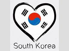 Amor bandera de Corea del sur Grunge — Archivo Imágenes