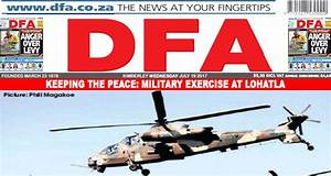 KEEPING THE PEACE: Military exercise at Lohatla ...