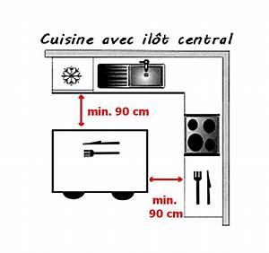 dimension ilot central ilot central cuisine With dimension ilot central cuisine