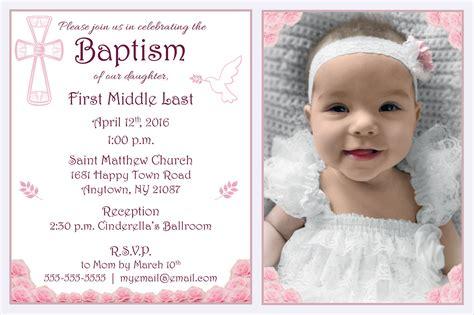 10 Baptism Invitation Templates