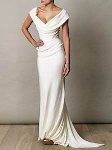 simple elegant sheath sweep train wedding dress for older With simple wedding dresses for older brides