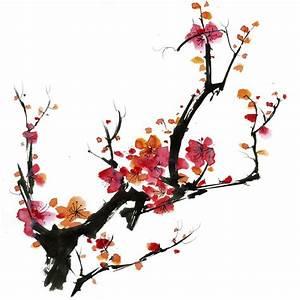Dessin Fleur De Cerisier Japonais Noir Et Blanc : sp cialiste fran ais papier peint japonais cerisier en ~ Melissatoandfro.com Idées de Décoration