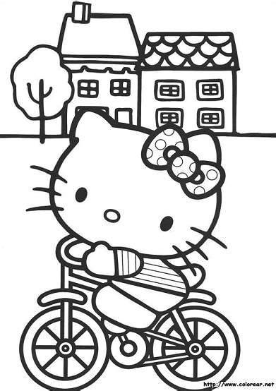 kitty  colorear  kitty en mundokittycom
