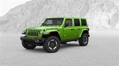 jeep wrangler colors   jeep