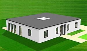 Bungalow Mit Atrium : atrium bungalow 128 6 mit lichthof einfamilienhaus neubau massivhaus stein auf stein ~ Frokenaadalensverden.com Haus und Dekorationen