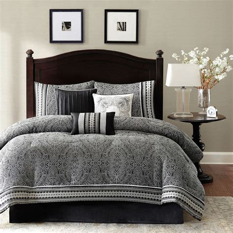 king size  piece comforter set  damask pattern