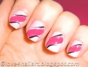 Love nailart easy pink nail art design short nails beginners tutorial