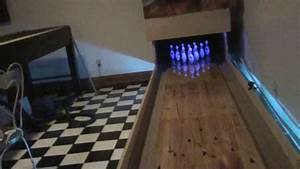 Mini Basement Bowling With Push Button Pinsetter