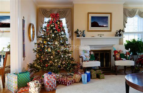 stock photos living room with christmas tree stock