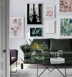 Schöne Bilder Für Wohnzimmer : inspiration f r sch ne wohnzimmer bilderwand mit postern desenio ~ Indierocktalk.com Haus und Dekorationen