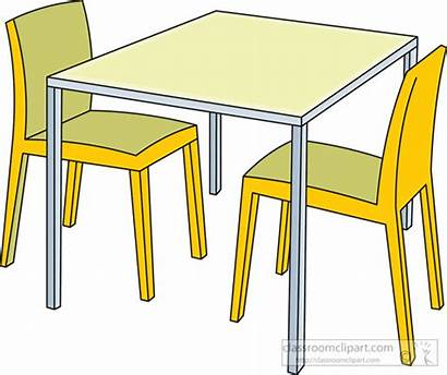 Clipart Chairs Table Kitchen Furniture Chair Classroom
