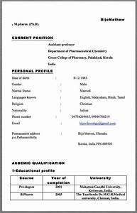 Computer Skills In Resume Sample Assistant Professor Resume Example Bijomathew M Pharm
