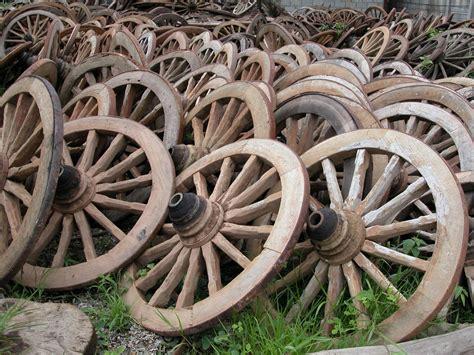 antique west wagon wheel