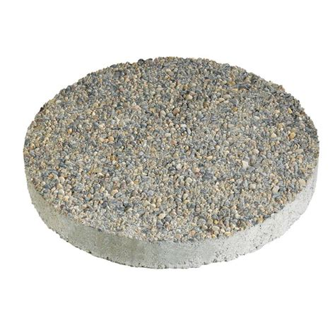 8 concrete block anchor 16 in x 16 in exposed aggregate gray