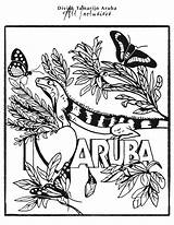 Coloring Pages Aruba Paradise sketch template