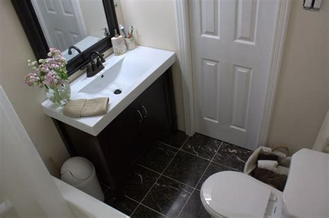 Before And After Small Bathroom Makeovers Big On Style Black And Grey Living Room Wallpaper Design A Long Small House Layout Gas Fireplace Ideas How To Decorate With Plants Best Paint Color For Resale Modern Chairs Toronto The Consignment & Tea
