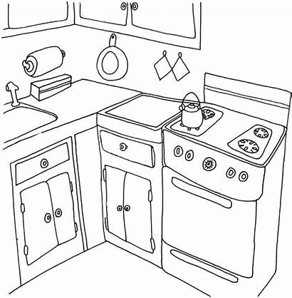 Kitchen Coloring Pages Cooking Sheets Islands Printable