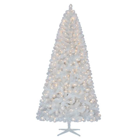 martha stewart christmas tree lights not working home accents holiday 7 5 ft pre lit led glossy white
