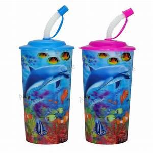 Verre Avec Paille : verre avec paille dauphin 3d pas cher ~ Teatrodelosmanantiales.com Idées de Décoration