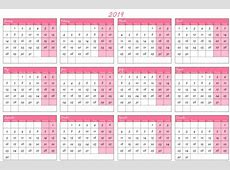 Fiscal Year 2019 Calendar UK