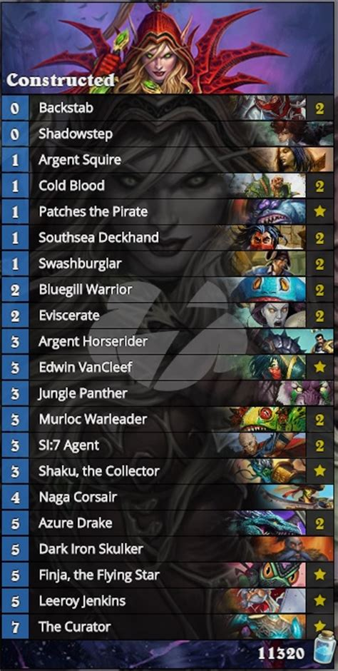 Hearthstone Rogue Deck List by Hearthstone The Rise Of Water Decks Esports Edition