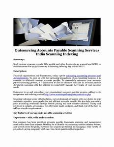 outsourcing accounts payable scanning services india With accounts payable document scanning